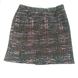 LOFT 8 Petite Tweed Shift Pencil Fully Lined Skirt